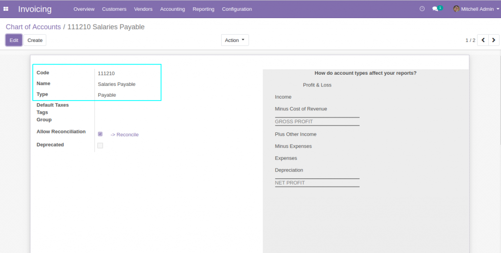 Payroll Accounting and Salary Payment Reconciliation in Odoo 12