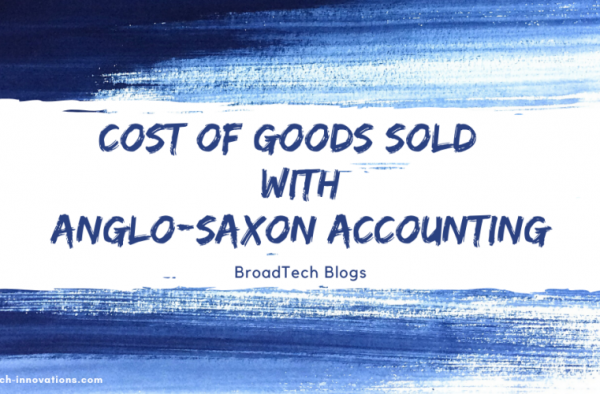 Cost of goods sold (COGS) using Anglo-Saxon Accounting